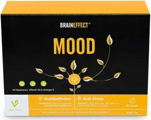 BRAINEFFECT MOOD Pflanzlicher Stimmungsaufheller mit B6