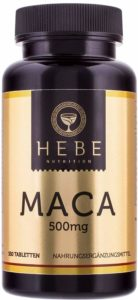 Maca-Wurzel 500 mg Extrakt, Vegan, 180 Tabletten